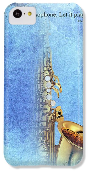 Charlie Parker Saxophone Vintage Poster And Quote, Gift For Musicians IPhone 5c Case by Pablo Franchi