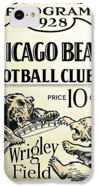 Chicago Bears Football Club Program Cover 1928 IPhone 5c Case by Daniel Hagerman