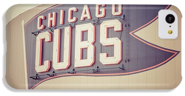 Chicago Cubs Sign Vintage Picture IPhone 5c Case by Paul Velgos