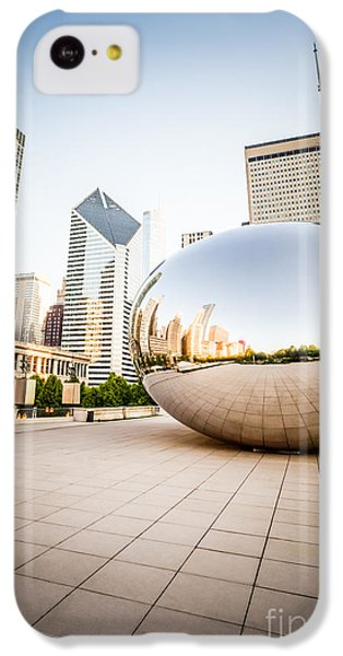 Chicago Gloud Gate And Chicago Skyline Photo IPhone 5c Case by Paul Velgos