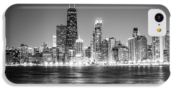 Chicago Lakefront Skyline Black And White Photo IPhone 5c Case by Paul Velgos