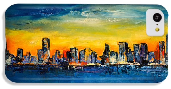 Chicago Skyline IPhone 5c Case by Elise Palmigiani