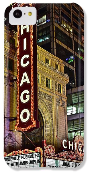 Chicago Theater Aglow IPhone 5c Case by Frozen in Time Fine Art Photography