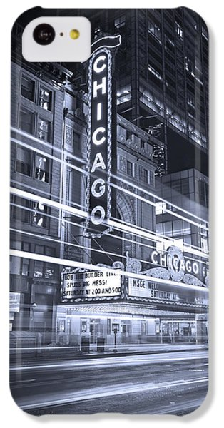 Chicago Theater Marquee B And W IPhone 5c Case by Steve Gadomski