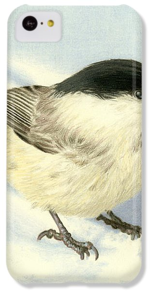 Chilly Chickadee IPhone 5c Case by Sarah Batalka