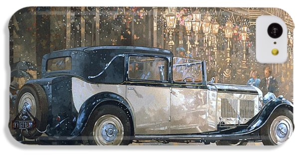 Christmas Lights And 8 Litre Bentley IPhone 5c Case by Peter Miller