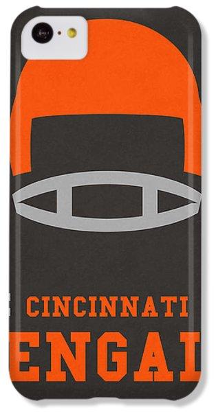 Cincinnati Bengals Vintage Art IPhone 5c Case by Joe Hamilton