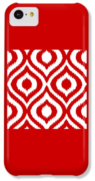 Circle And Oval Ikat In White T02-p0100 IPhone 5c Case by Custom Home Fashions