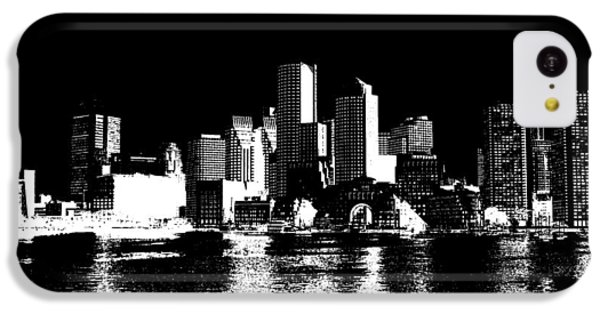 City Of Boston Skyline   IPhone 5c Case by Enki Art