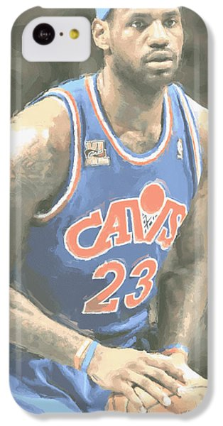 Cleveland Cavaliers Lebron James 1 IPhone 5c Case by Joe Hamilton