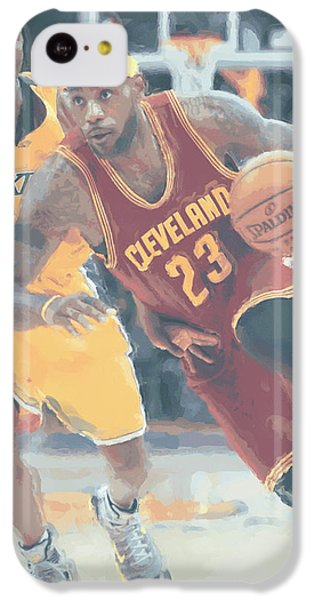 Cleveland Cavaliers Lebron James 3 IPhone 5c Case by Joe Hamilton