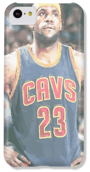 Cleveland Cavaliers Lebron James 5 IPhone 5c Case by Joe Hamilton