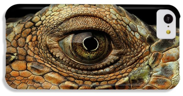 Closeup Eye Of Green Iguana, Looks Like A Dragon IPhone 5c Case by Sergey Taran