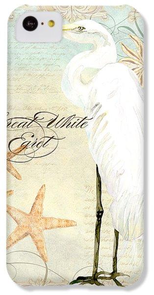 Coastal Waterways - Great White Egret 3 IPhone 5c Case by Audrey Jeanne Roberts