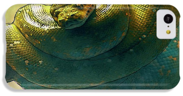 Coiled IPhone 5c Case by Jack Zulli