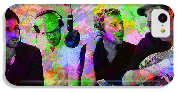 Coldplay Band Portrait Paint Splatters Pop Art IPhone 5c Case by Design Turnpike