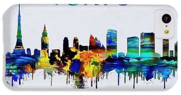 Colorful Tokyo Skyline Silhouette IPhone 5c Case by Dan Sproul