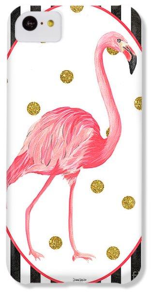 Contemporary Flamingos 2 IPhone 5c Case by Debbie DeWitt