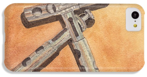 Corroded Trumpet Pistons IPhone 5c Case by Ken Powers