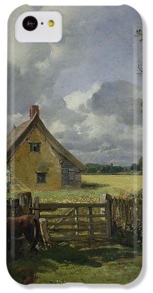 Cottage In A Cornfield IPhone 5c Case by John Constable