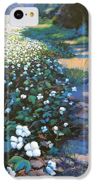 Cotton Field IPhone 5c Case by Jeanette Jarmon