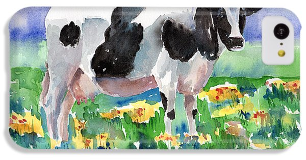 Cow In The Meadow IPhone 5c Case by Arline Wagner