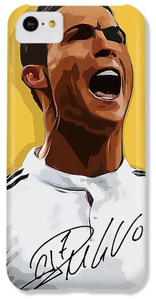 Cristiano Ronaldo Cr7 IPhone 5c Case by Semih Yurdabak