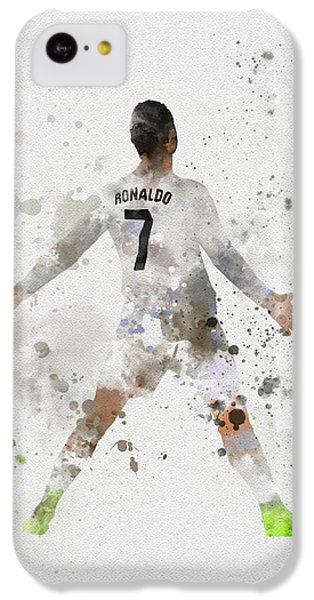 Cristiano Ronaldo IPhone 5c Case by Rebecca Jenkins