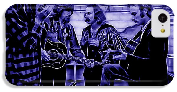 Crosby Stills Nash And Young IPhone 5c Case by Marvin Blaine