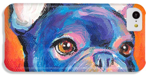 Cute French Bulldog Painting Prints IPhone 5c Case by Svetlana Novikova
