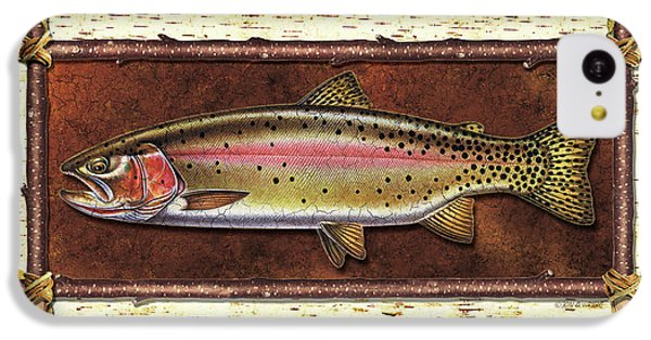 Cutthroat Trout Lodge IPhone 5c Case by JQ Licensing