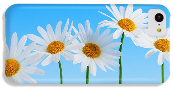 Daisy Flowers On Blue IPhone 5c Case by Elena Elisseeva