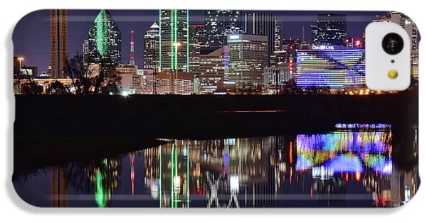 Dallas Reflecting At Night IPhone 5c Case by Frozen in Time Fine Art Photography