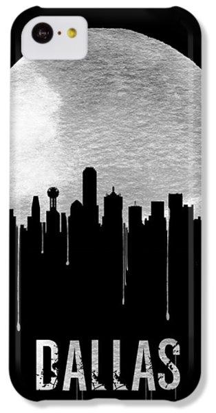 Dallas Skyline Black IPhone 5c Case by Naxart Studio