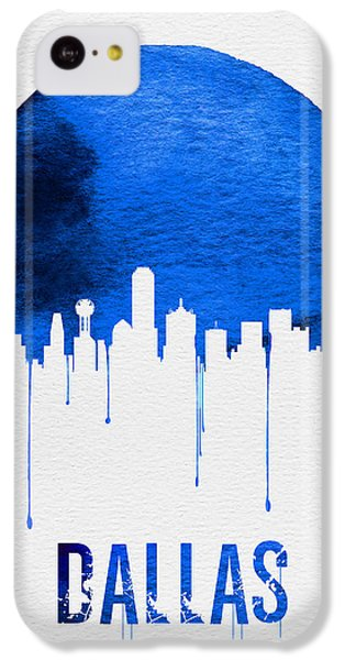 Dallas Skyline Blue IPhone 5c Case by Naxart Studio