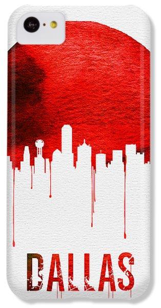 Dallas Skyline Red IPhone 5c Case by Naxart Studio