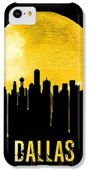 Dallas Skyline Yellow IPhone 5c Case by Naxart Studio