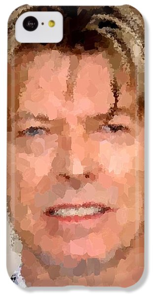 David Bowie Portrait IPhone 5c Case by Samuel Majcen