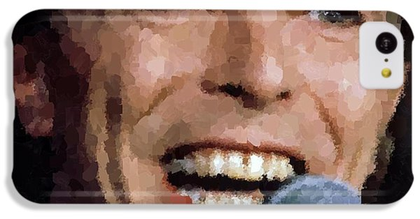 David Bowie IPhone 5c Case by Samuel Majcen