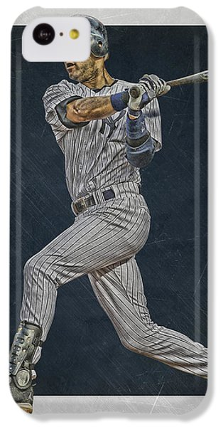 Derek Jeter New York Yankees Art 2 IPhone 5c Case by Joe Hamilton