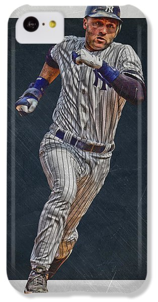 Derek Jeter New York Yankees Art 3 IPhone 5c Case by Joe Hamilton