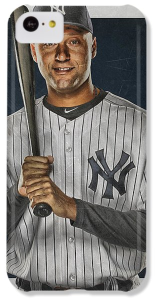 Derek Jeter New York Yankees Art IPhone 5c Case by Joe Hamilton