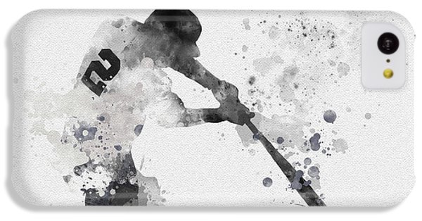 Derek Jeter IPhone 5c Case by Rebecca Jenkins