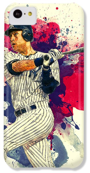 Derek Jeter IPhone 5c Case by Taylan Apukovska