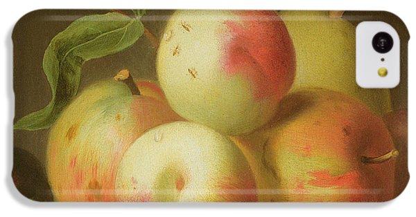 Detail Of Apples On A Shelf IPhone 5c Case by Jakob Bogdany