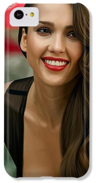Digital Painting Of Jessica Alba IPhone 5c Case by Frohlich Regian