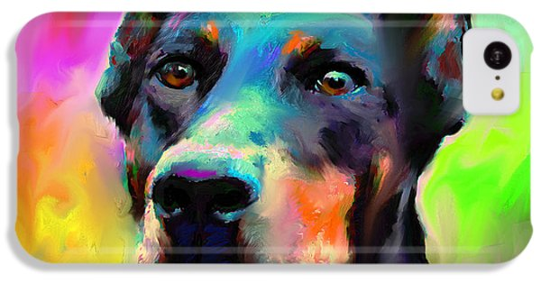 Doberman Pincher Dog Portrait IPhone 5c Case by Svetlana Novikova