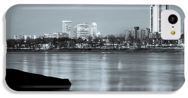 Downtown Tulsa Oklahoma - University Tower View - Black And White IPhone 5c Case by Gregory Ballos