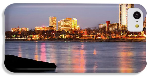 Downtown Tulsa Oklahoma - University Tower View IPhone 5c Case by Gregory Ballos