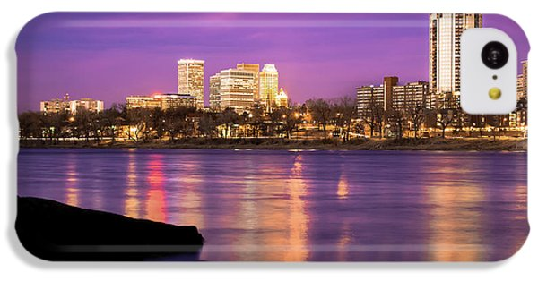 Downtown Tulsa Oklahoma - University Tower View - Purple Skies IPhone 5c Case by Gregory Ballos